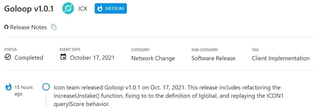 Icon team ra mắt Goloop v1.0.1 vào 17/10/2021