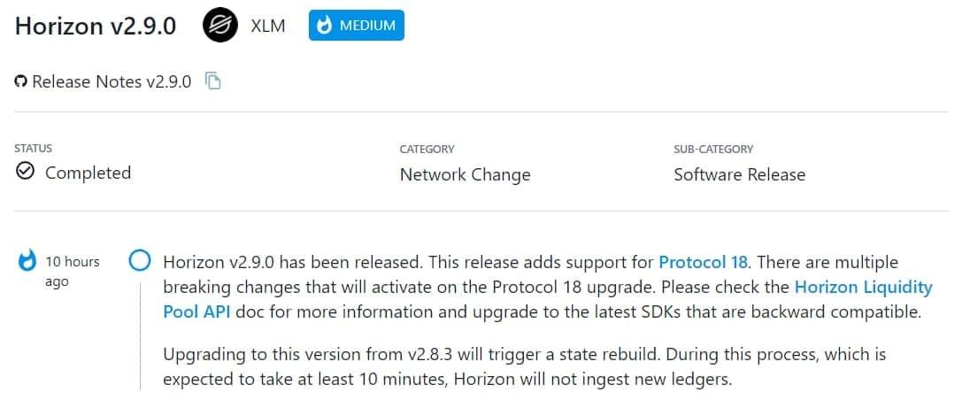 Horizon v2.9.0 đã ra mắt