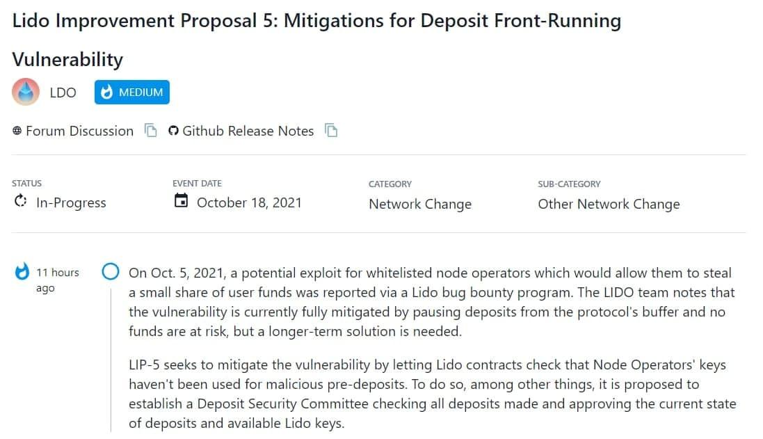 LDO lỗi cho phép các nhà khai thác nút trong whitelist đánh cắp tiền của người dùng
