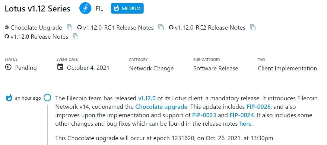 Filecoin team ra mắt v1.12.0 của Lotus client