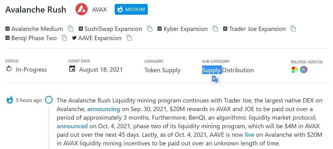 Chương trình khai thác thanh khoản Avalanche Rush tiếp tục với Trader Joe, native DEX lớn nhất trên Avalanche, được thông báo vào 30/09/202
