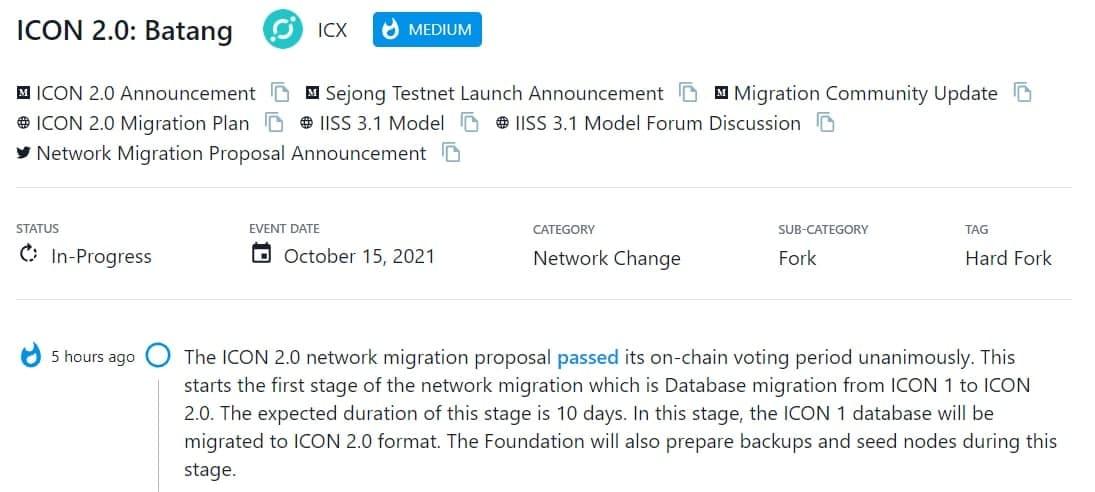 Bắt đầu giai đoạn di chuyển cơ sở dữ liệu từ ICON 1.0 sang ICON 2.0