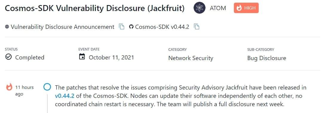 Các bản vá giải quyết bao gồm Security Advisory Jackfruit đã được phát hành