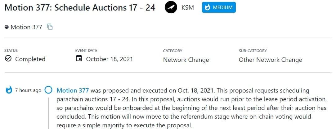 Motion 377 được đề xuất và thực hiện vào 18/10/2021