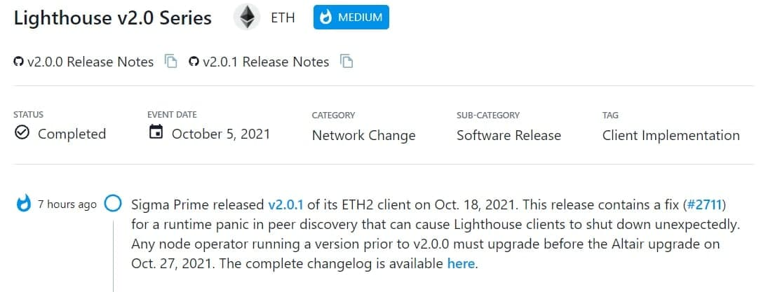 Sigma Prime ra mắt v2.0.1 của ETH2 client
