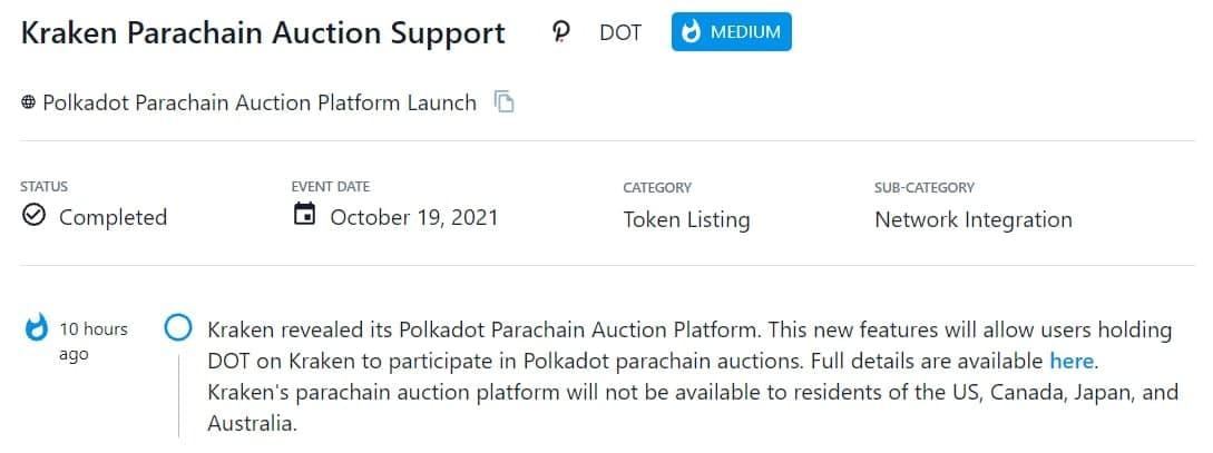 Kraken tiết lộ Polkadot Parachain Auction Platform