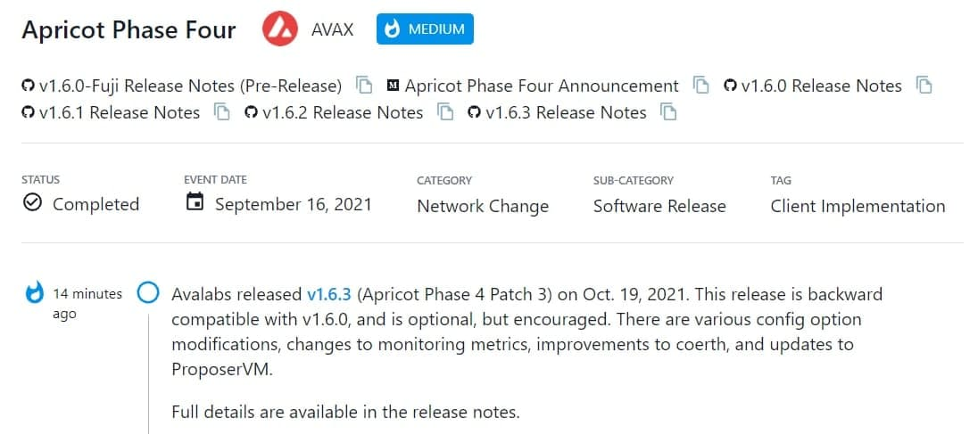 Avalabs ra mắt v1.6.3 (Apricot Phase 4 Patch 3)