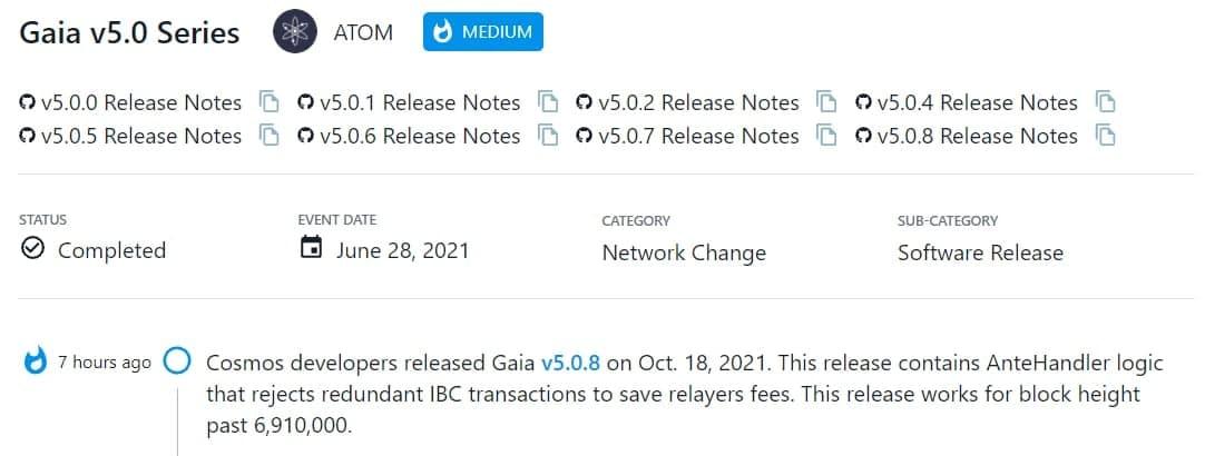 Cosmos ra mắt Gaia v5.0.8 vào 18/10/2021