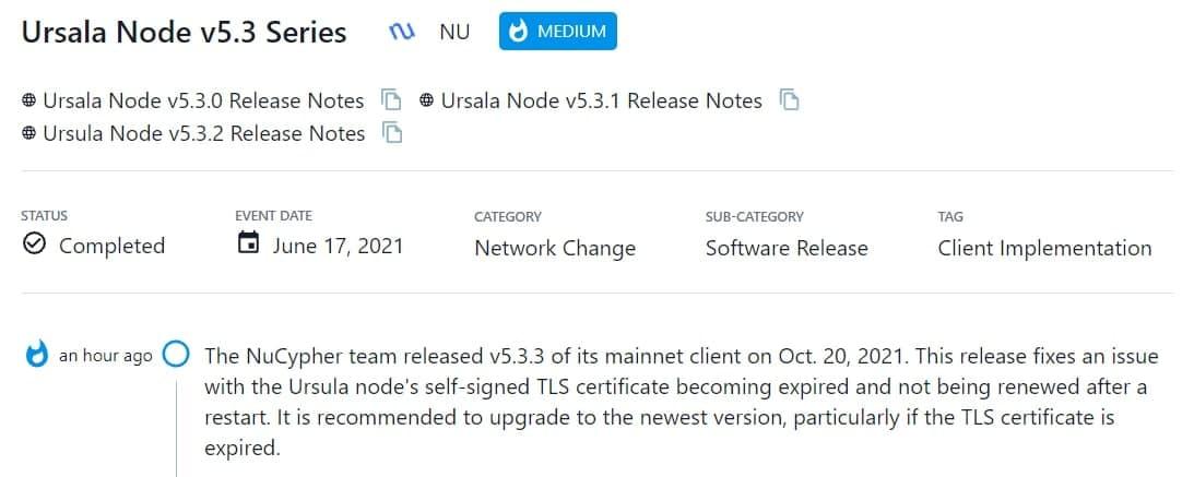 NuCypher ra mắt v5.3.3 của mainnet client