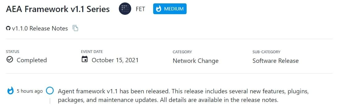 Agent framework v1.1 được ra mắt