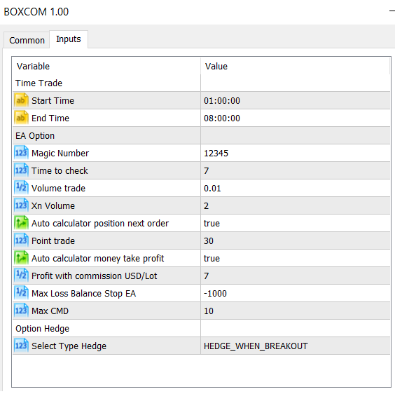 FXCE EA BoxCom - Cày com khi giao dịch USDCHF, NZDUSD vào phiên Á